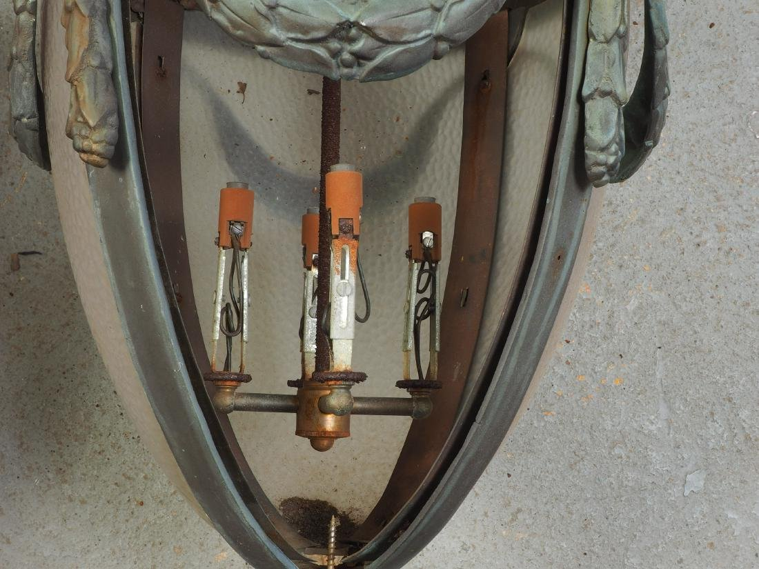 Pair Of Large Bronze Outdoor Lanterns - Restoration - 8