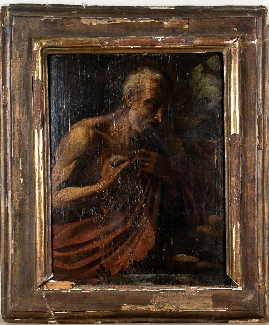 Old Master Oil On Panel- Figure Of An Elderly Male