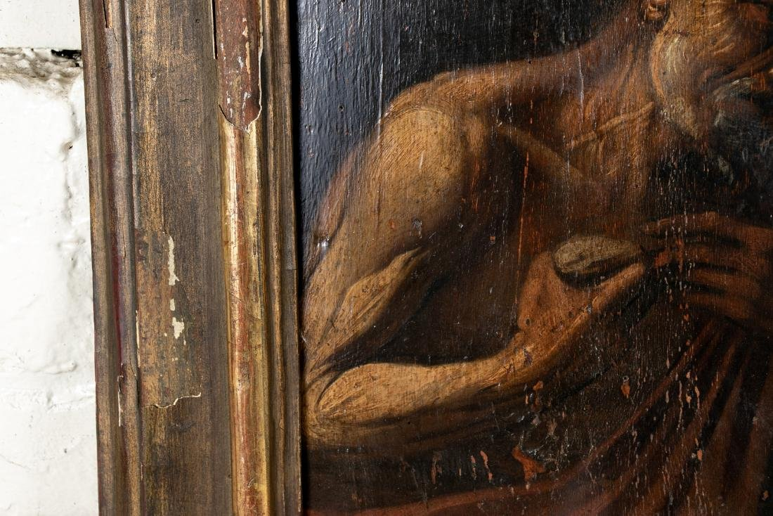 Old Master Oil On Panel- Figure Of An Elderly Male - 4