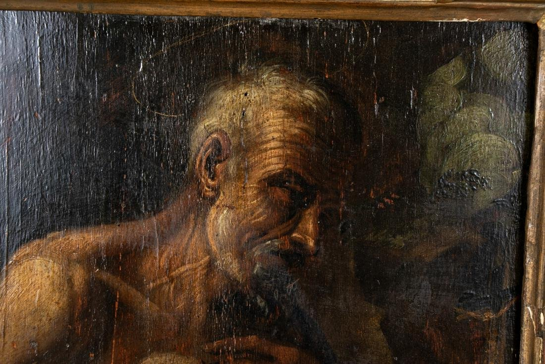 Old Master Oil On Panel- Figure Of An Elderly Male - 8