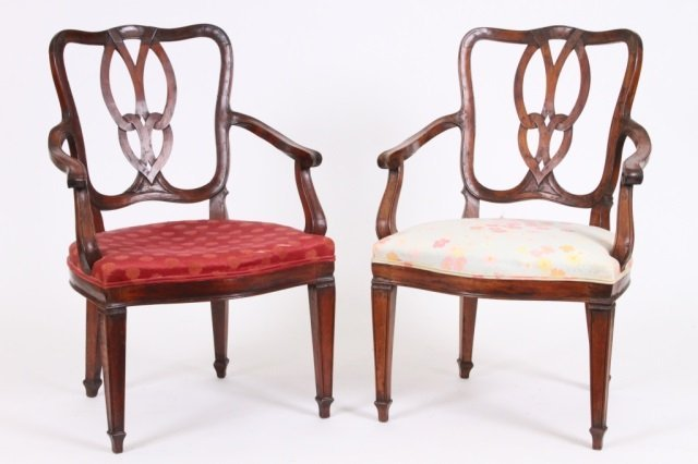 PAIR OF CONTINENTAL ARMCHAIRS