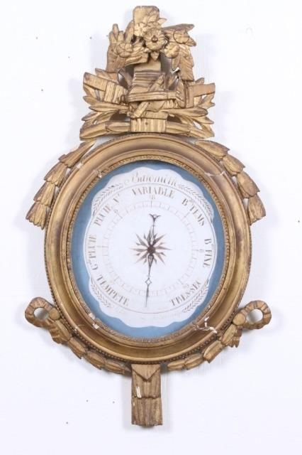 LOUIS XVI WALL BAROMETER