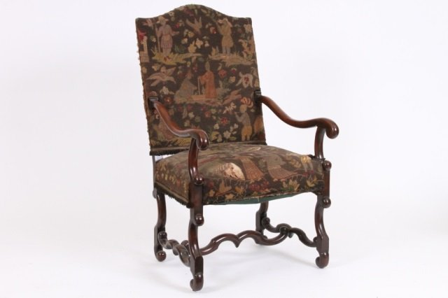 BAROQUE STYLE TAPESTRY ARMCHAIR