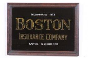 ANTIQUE BOSTON INSURANCE COMPANY SIGN