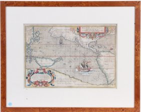 ANTIQUE HAND COLORED MAP, 18TH CENTURY