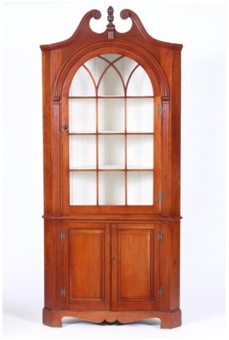 FEDERAL STYLE CORNER CABINET