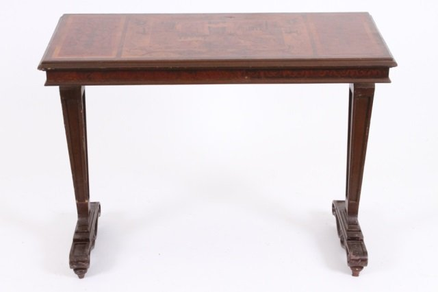 ITALIAN MARQUETRY INLAID HALL TABLE