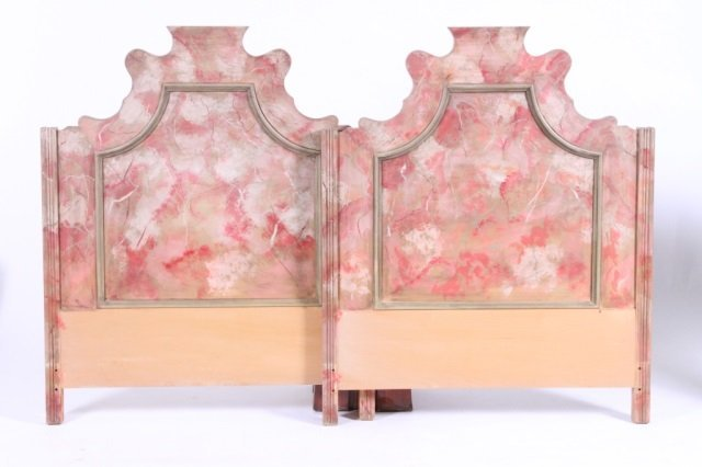 PAIR OF BAROQUE STYLE TWIN HEADBOARDS