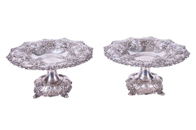 TIFFANY & CO. PAIR OF STERLING SILVER COMPOTES