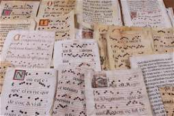 Collection Of 40 - 17th Century Music Manuscripts On