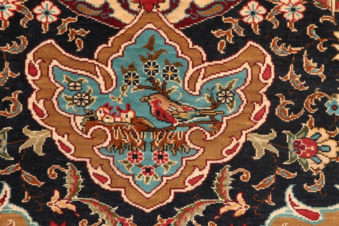 Turkish Finely Woven Silk Prayer Mat, Artist Signed - 3