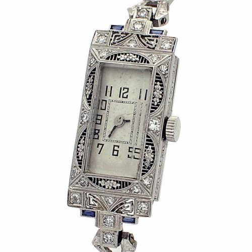 14K WG VINTAGE DIAMOND WATCH (DS DIAMOND DRE) - WL1824