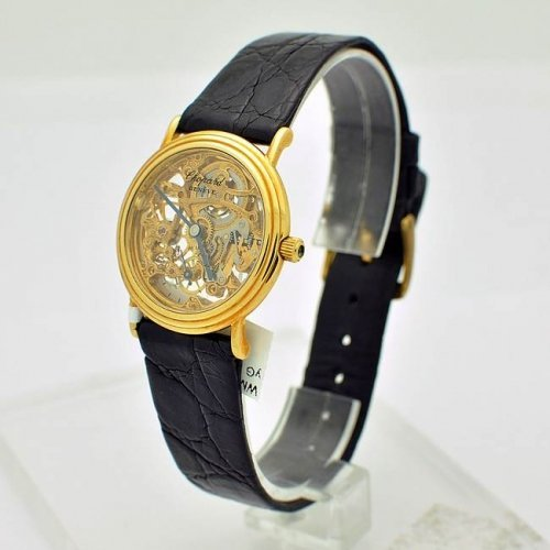 CHOPARD SKELETON 18K YELLOW GOLD WATCH - WM1827
