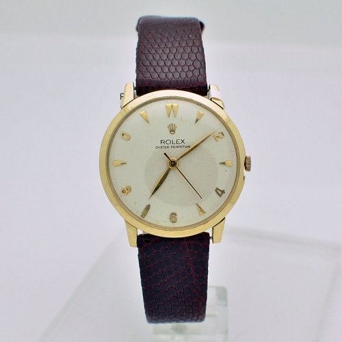 14K YELLOW GOLD VINTAGE ROLEX WATCH - WM1836
