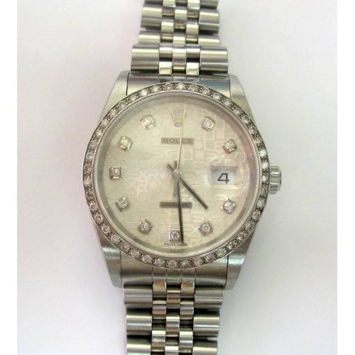 ROLEX DATEJUST STAINLESS STEEL DIAMOND