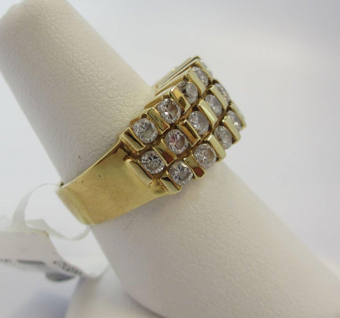 14K Y/G  DIAMOND WOMEN`S RING