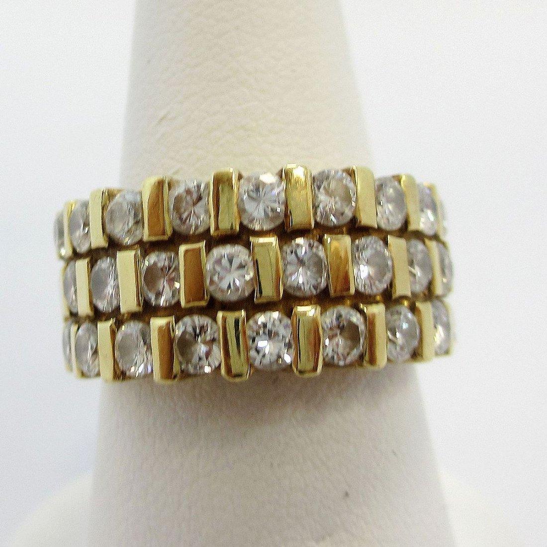 14K Y/G  DIAMOND WOMEN`S RING - 2