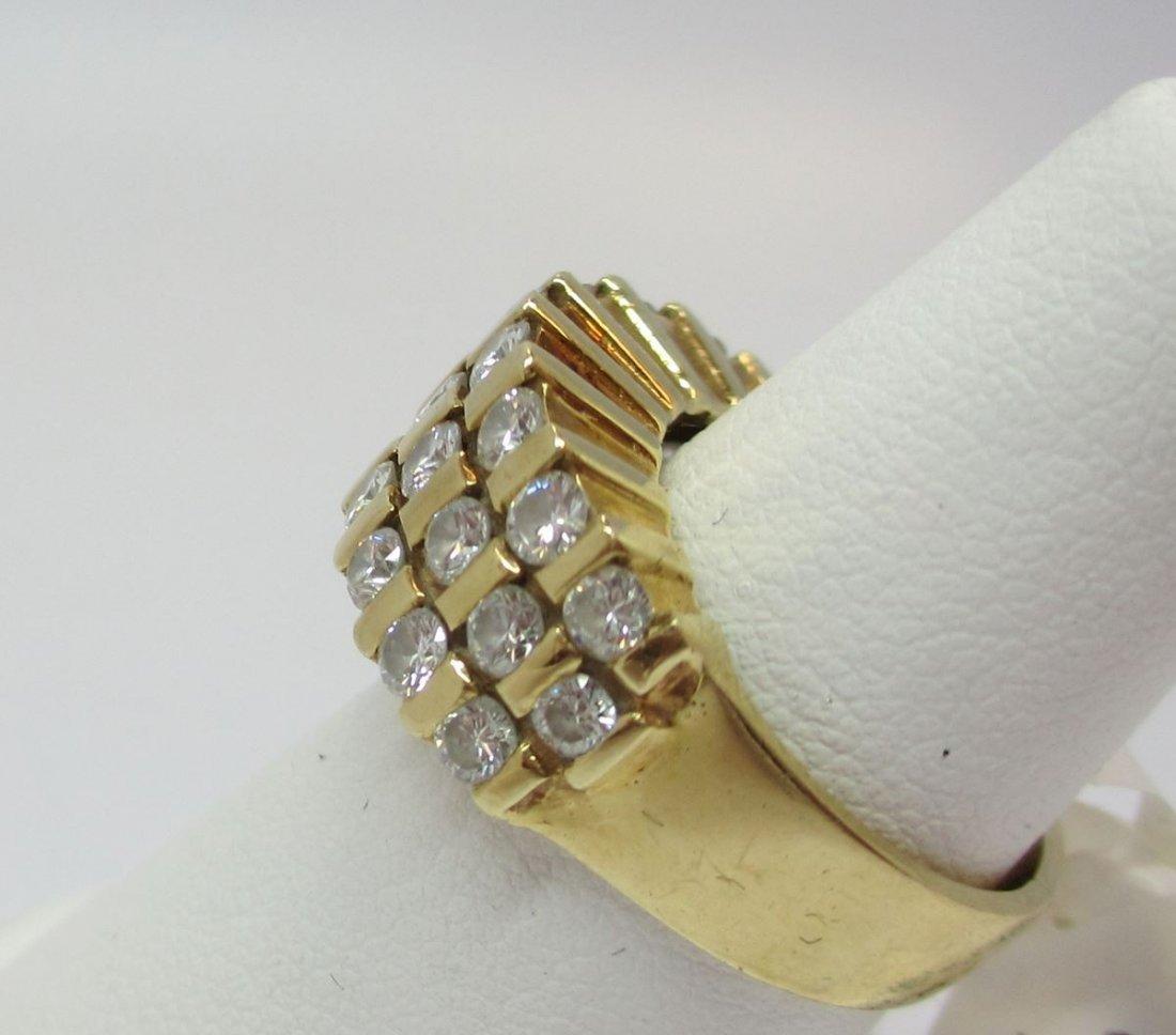 14K Y/G  DIAMOND WOMEN`S RING - 4