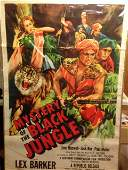 """Movie Poster """"Mystery of the Black Jungle"""""""