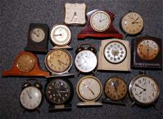 Large Lot of Large Alarm Clocks (Not Running)