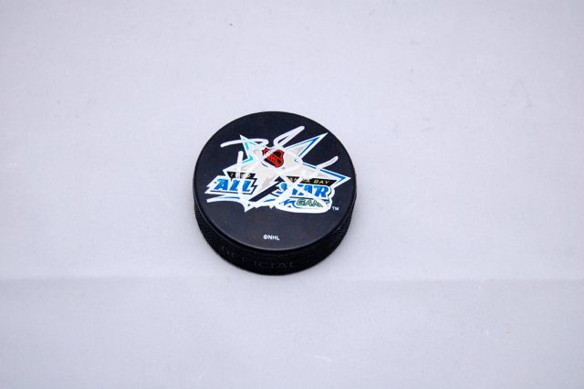 Signed Brendan Shanahan All-Star Hockey Puck