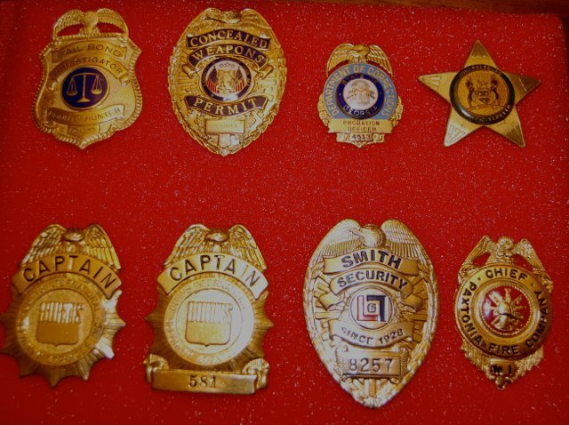 Law enforcement badges