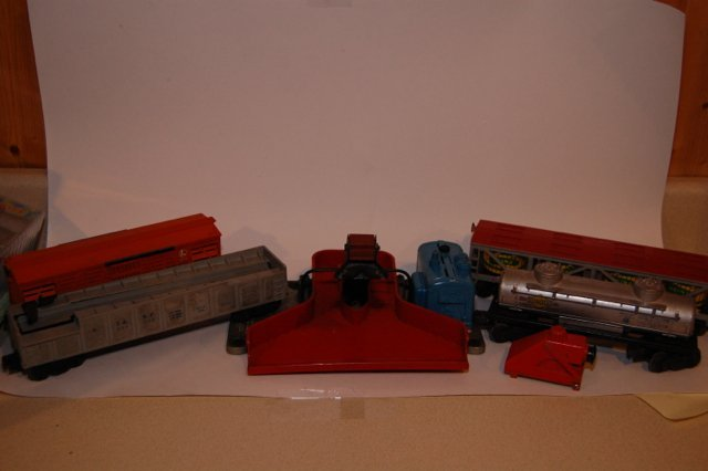 Misc Lionel Boxcars And Coal Loader.