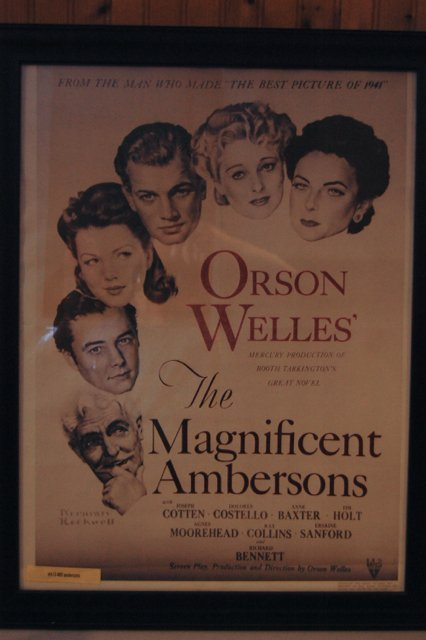Movie poster the Magnificent Ambersons