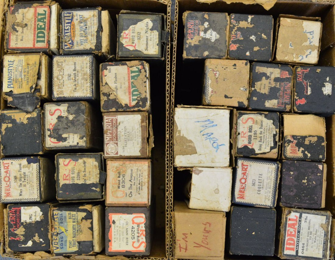 Lot of 30 Player Piano Rolls