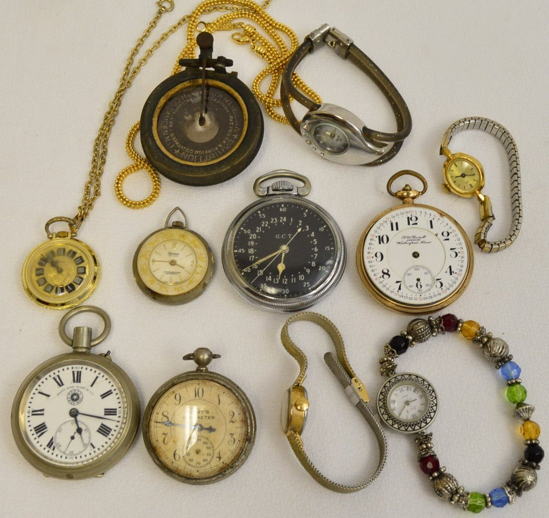 Lot of 13 Pocket and Wrist Watches