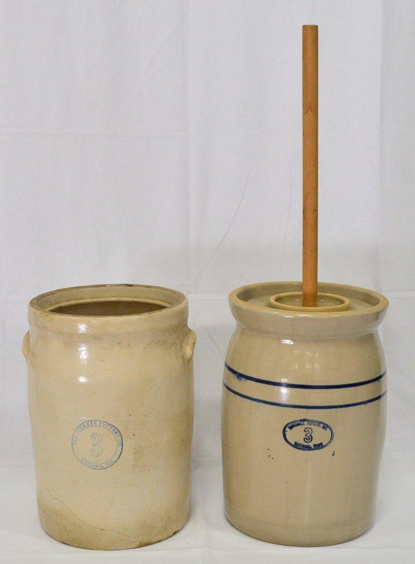 Pair of Antique Butter Churns