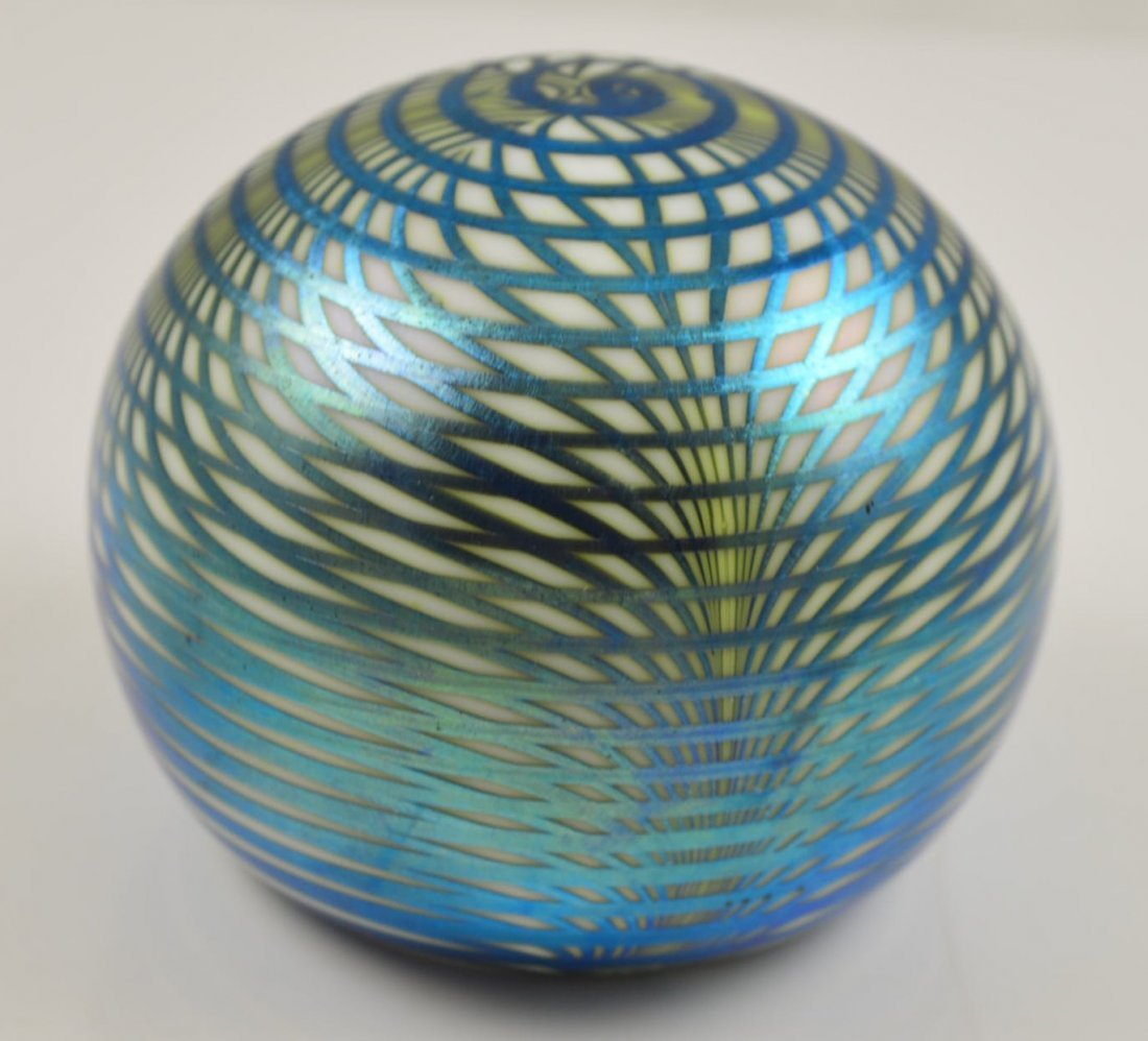 S. Smyers Art Glass Paperweight