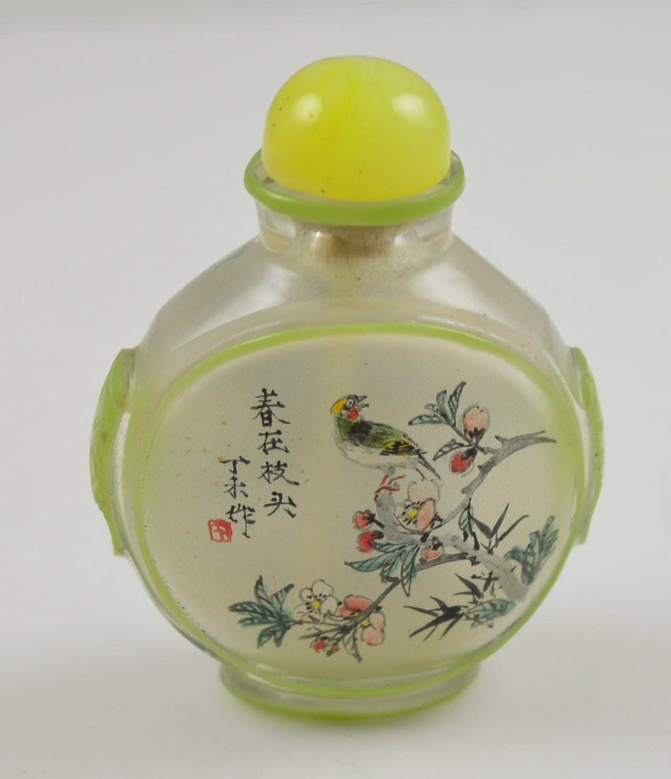 Reverse Glass Painted Chinese Snuff Bottle