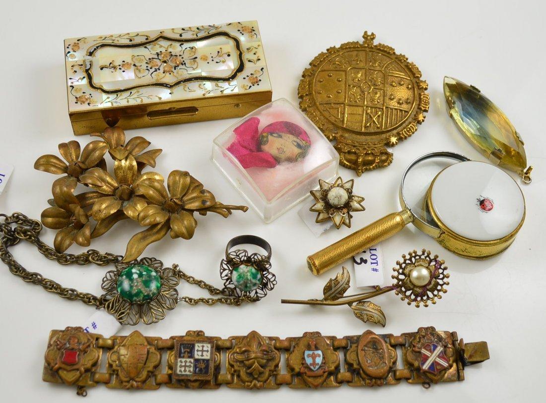 Lot of 10 Costume Jewelry & Vanity Items