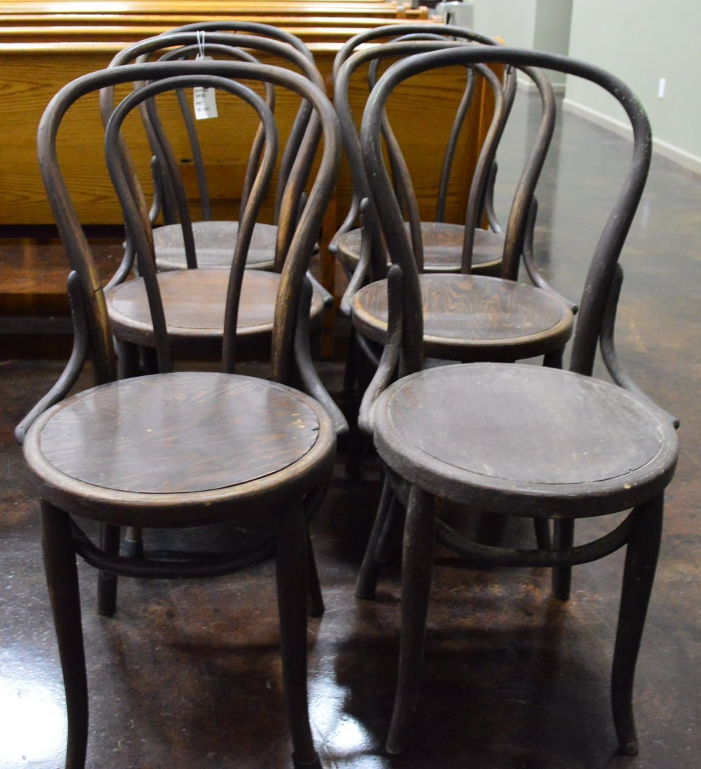 Set of 6 Vienna Back Antique Chairs