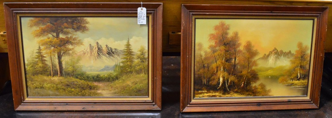 Matching Pair of Landscape Oil  Paintings