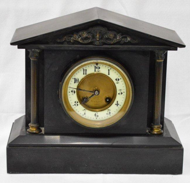 R & W Sorley Paris Slate Mantle Clock