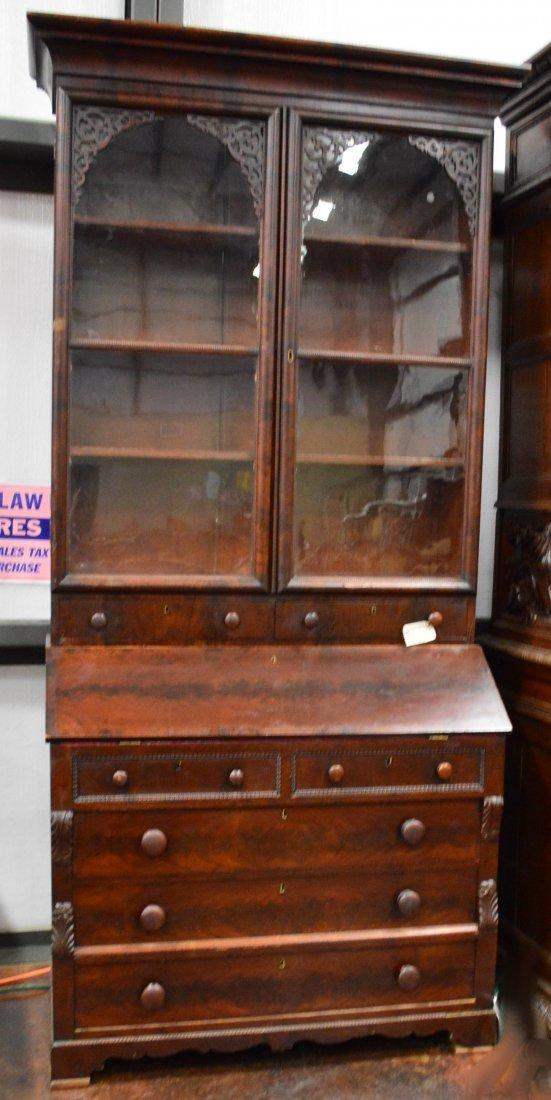 Mahogany Bookcase & Secretary