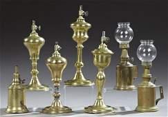 Lot of Brass Lanterns  Lamp Fixtures