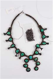 Authentic Native American Squash Blossom Necklace