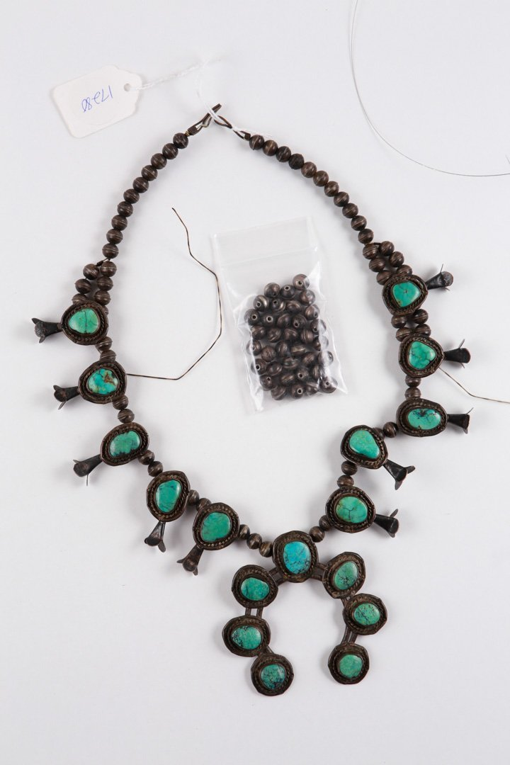 Authentic Native American Squash Blossom Necklace