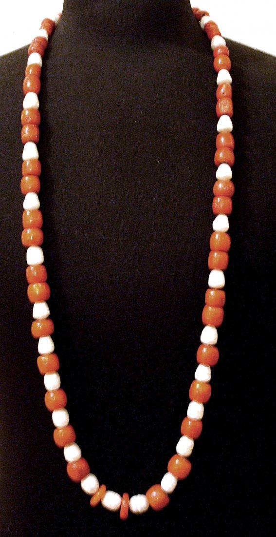 CULTURE PEARL-AND-CORAL-NECKLACE-40-INCHES-LONG