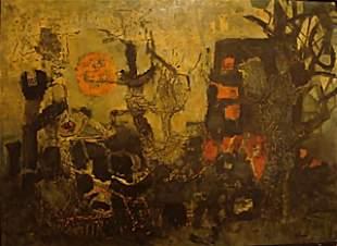 Antoni CLAVÉ (Spanish 1913-2005), attributed, oil on bo