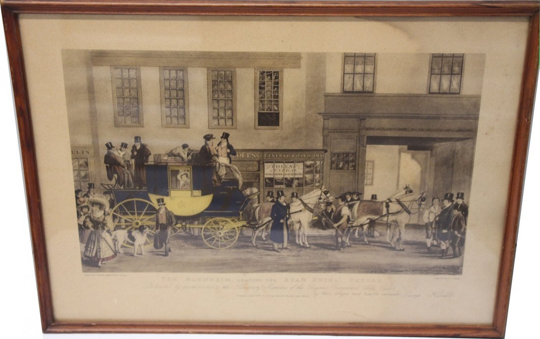 Blenhein Leaving the Star Hotel - print by F.J. Havell