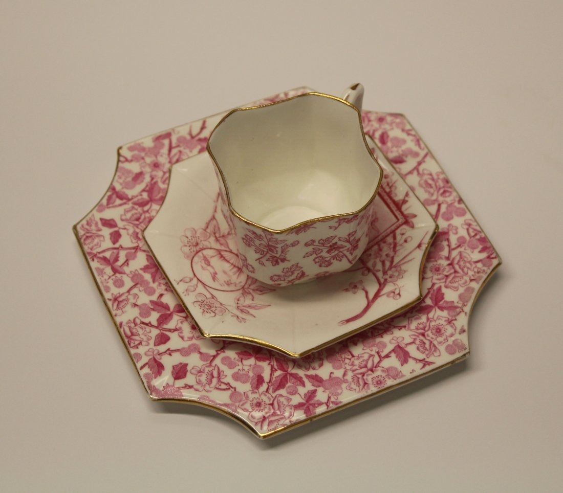"Wileman & Co. Porcelain ""Pre-Shelley"" -Cup Saucer Plate"