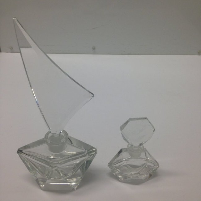 Two Glass Perfume Bottles