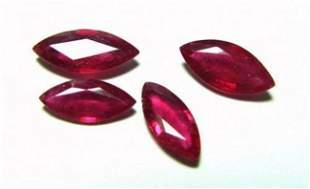 4 Loose Ruby Marquise Shape 6.88Carat