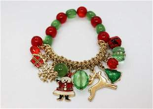 Christmas Charm Bracelet Bead Multi-Colored