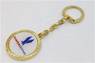 American Airlines Key Change 18k Y/G Overlay Sterling