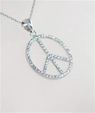 Mercedez Pendant Creation Diamond Necklace 14k W/g